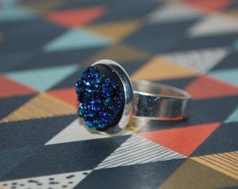 Ring adjustable dark blue