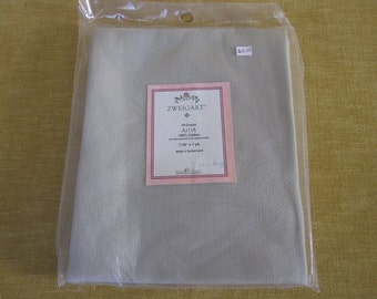 Zweigart aida, 14 ct., barn grey cross stitch fabric,100% cotton,1 yard, embroidery