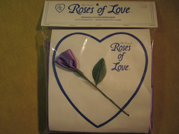 Roses Of Love Wedding Favors 50 Make Yourself Roses Purple