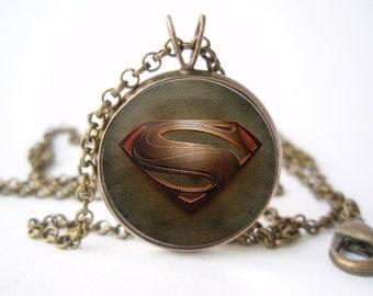 Superman Pendant with Сhain