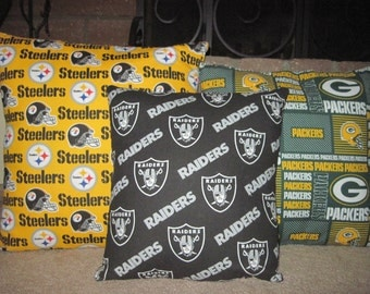 NFL  Hand made Comfy throw pillows to lay on while watching your favorite team/accent/bedroom/