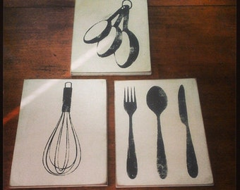 Kitchen Utensil Sign Decor