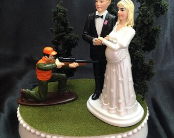 pregnant wedding cake toppers popular items for on etsy 18719