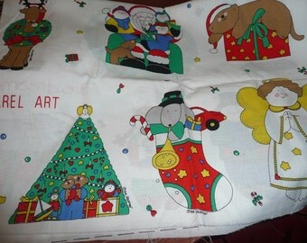 Sue Dreamer Apparel Art x's 2, 2 Christmas Appplique Panels  Shipping Included