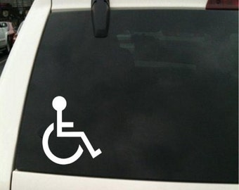 2 X Handicap Vinyl Sticker Decal Car Bumper Window 56