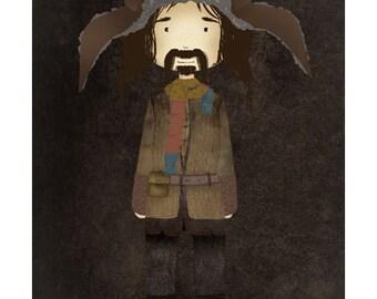 cute Bofur print / the Hobbit