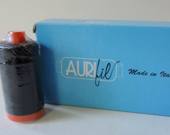 Aurifil Large Spool 50 wt Black Fine Cotton Thread