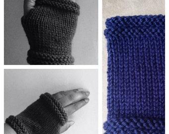 Fingerless Gloves-Knitted Pattern Advanced Beginner