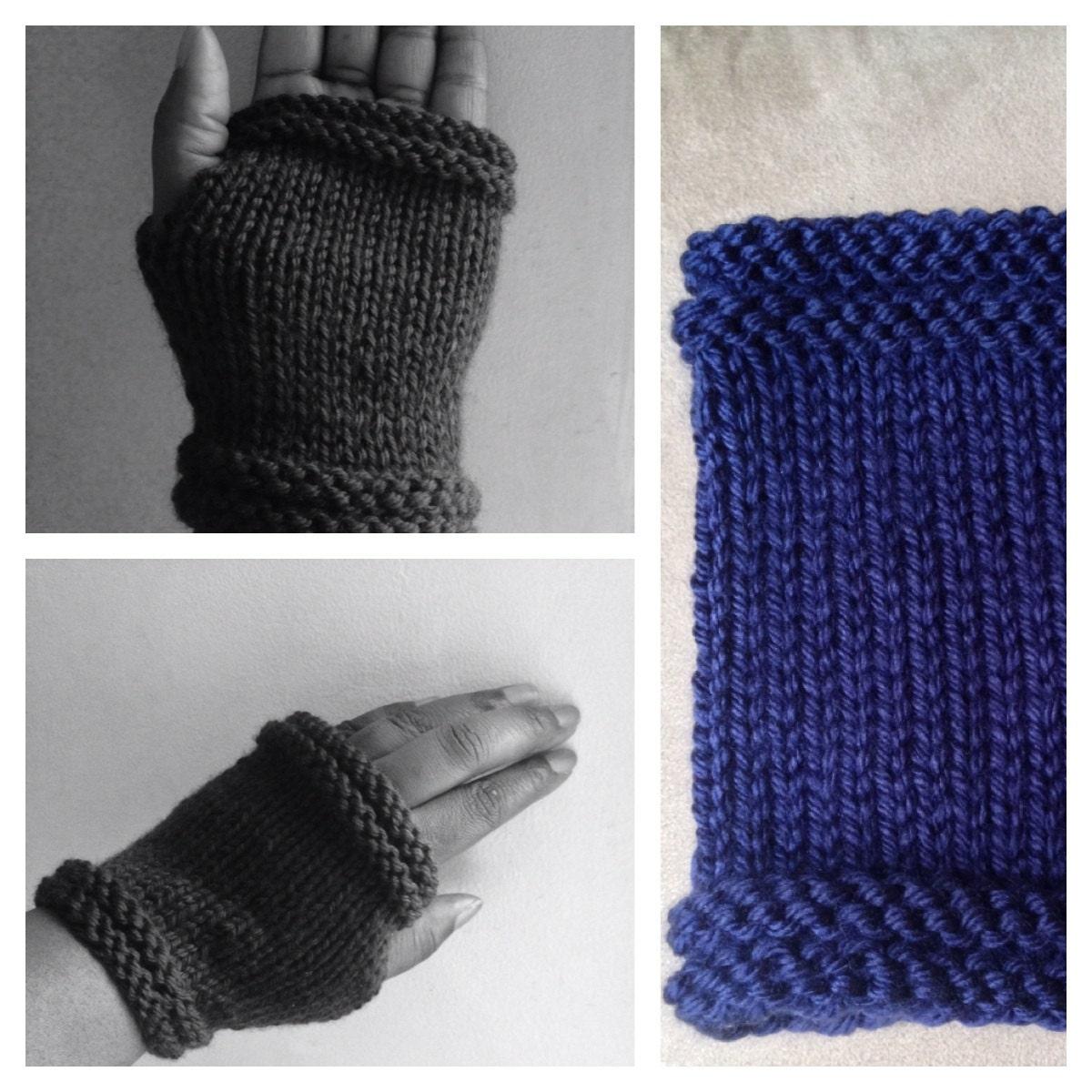 Knitting Patterns For Advanced Beginner : Fingerless Gloves-Knitted Pattern Advanced Beginner