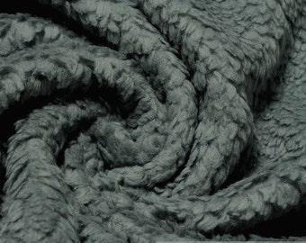 fabric pure cotton plush teddy grey faux fur cuddly warm soft