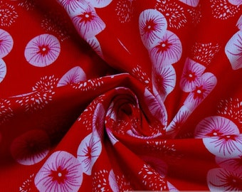 Fabric pure cotton corduroy red firework needlecord