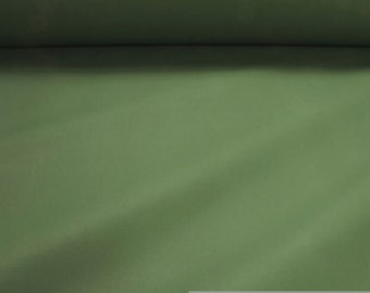 Fabric pure cotton canvas green wide water - repellend