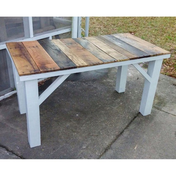 rustic reclaimed wood kitchen table by lostdogwoodworks