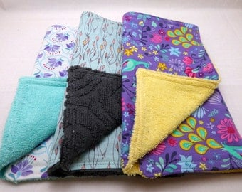 Baby Burpies {Burp Cloths} Set of 3 - Cuzco Purple Set