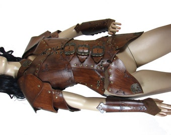 Hard leather ARMOUR for woman warrior, in 6 colors