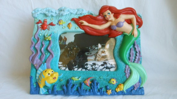Vintage Disney Princess The Little Mermaid 3d Picture Frame With