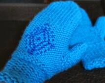Anna's Frozen Mittens Snowflake Gloves Inspired by Frozen