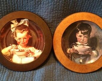 Collector Cornflake Girl and Boy Plates