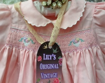 Adorable Pink Smocked Baby Dress 18 Months