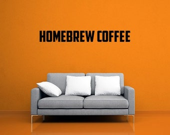 Homebrew Coffee DIY Wall Decal / Sticker