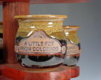 wheel thrown pottery stash jar gift pot from Colorado FREE SHIPPING!