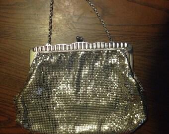 Vintage Whiting & Davis Silver Mesh Handbag/Clutch!