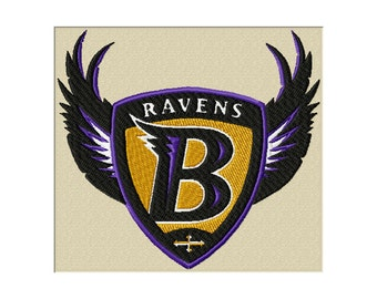 Ravens Embroidery