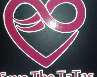 Save the Tatas Reflective Decal