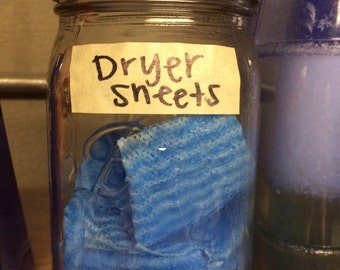 Homemade Reusable Dryer Sheets