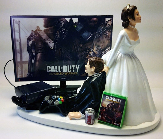 funny wedding cake toppers xbox gamer addict xbox one wedding cake by 14610
