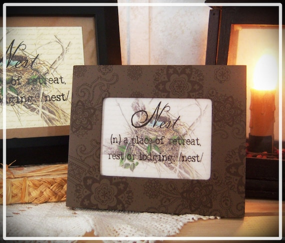 Framed Bird Nest Definition Print Nest Definition Nest Art