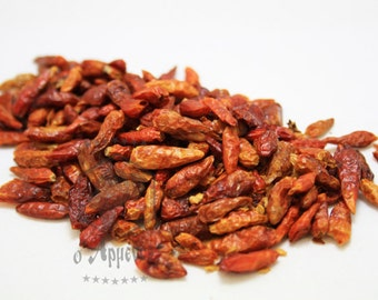 Hot red chilli peppers from India 100gr.