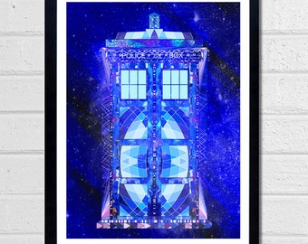 Doctor Who print - The Tardis - Dr who wall art
