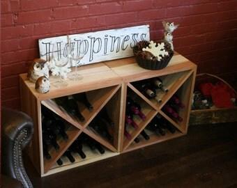 48 Bottle Wine Cube Set (2 Redwood Cubes)