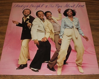 "Gladys Knight & The Pips ""About Love"" LP 1980 w Lyric Sleeve"