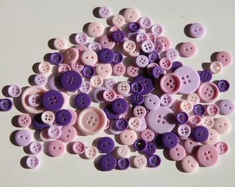 150 Purple Buttons