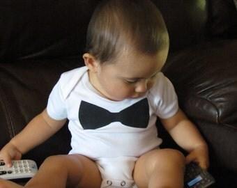 Black Bow Tie Baby Onesie (6-12 month size)