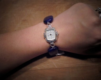 lapis watch bracelet.