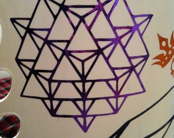 Star Tetrahedron Vinyl Decal