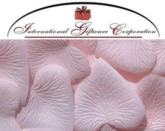 Heart Shaped Silk Rose Petals Wedding Favors Decor - 200 Count - Pink