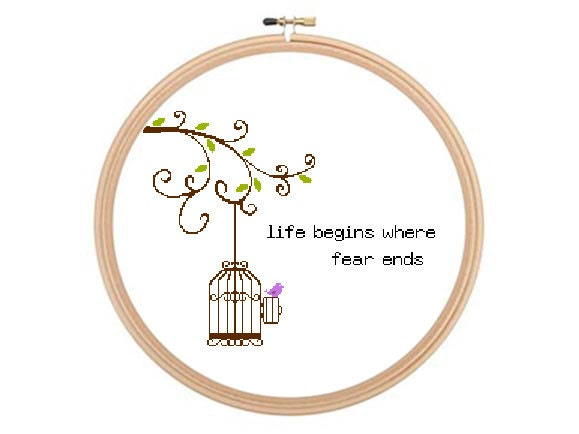 life begins where fear ends cross stitch pattern pdf osho