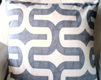 Gray Pillow Covers, Decorative Throw Pillows, Cushions, Grey White Embrace Couch Pillows, Throw Pillow Euro Sham, One or More All Sizes
