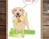 Custom Pet Thank You Card