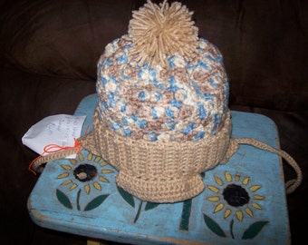 Hand Crocheted Hat For Kids In Buff