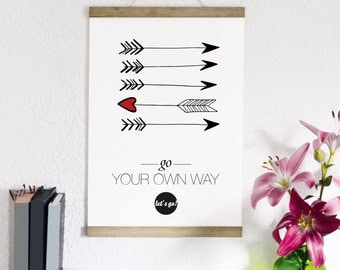 go your own way - print form type