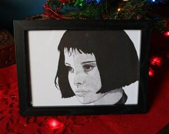 Mathilda Leon the Professional Movie Film Art Illustration Print A5