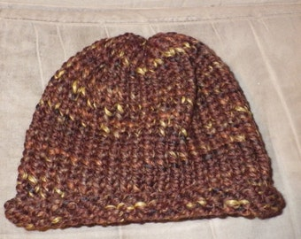 Brown Speckled Adult Hat