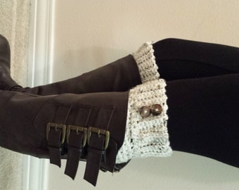 Boot Cuffs Socks Crochet Handmade Womens