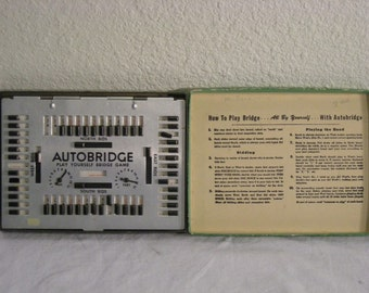 1950's Autobridge play yourself bridge game