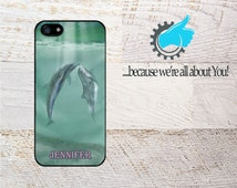 Dolphin Phone Case, Personalized Cover For iPhone 4/4s/5/5s/5c/6/6+ & Samsung S4,S5. Add Monogram Name or Initals!